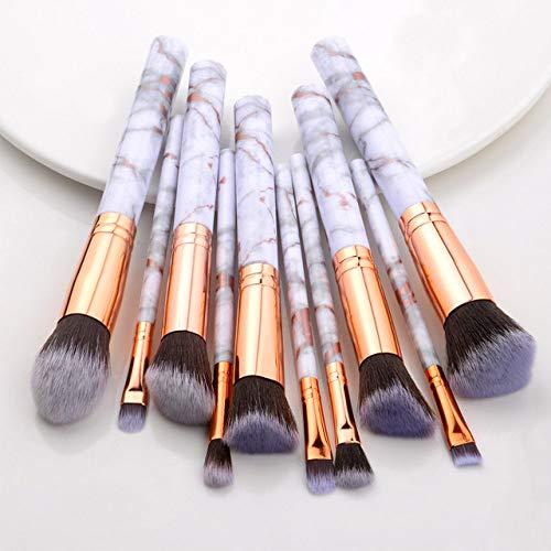 MLYJC Pinceaux Maquillage kit Ensemble de pinceaux de maquillage Brosses à outils Pinceau de maquillage multifonctionnel Correcteur de fard à paupières Fondation, 10pcs or