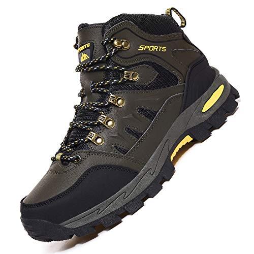 Rokiemen Zapatillas de Trekking para Hombre Zapatos de Senderismo Impermeable Transpirable Antideslizante Al Aire Libre Botas de Montaña Zapatillas de Camping