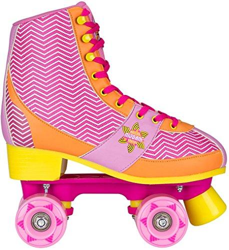 Nijdam Mädchen Roller Skate Chevron Size 35/36 Roller Skate Chevron, Pink/Orange, 35/36, 52RQ-FOG-35/36