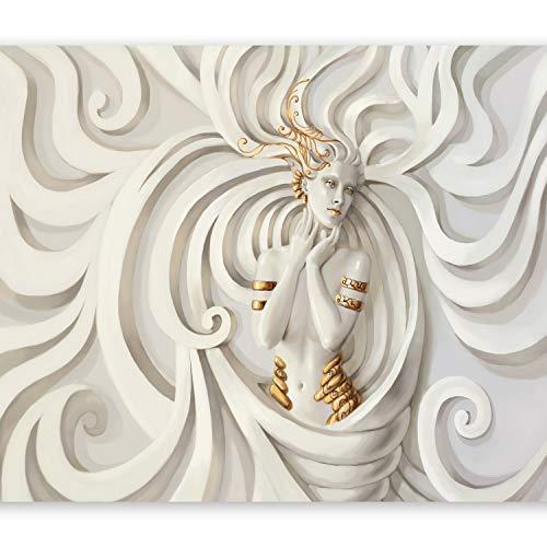 murando Fototapete 400x280 cm Vlies Tapeten Wandtapete XXL Moderne Wanddeko Design Wand Dekoration Wohnzimmer Schlafzimmer Büro Flur Ornament GÖTTIN h-A-0049-a-b