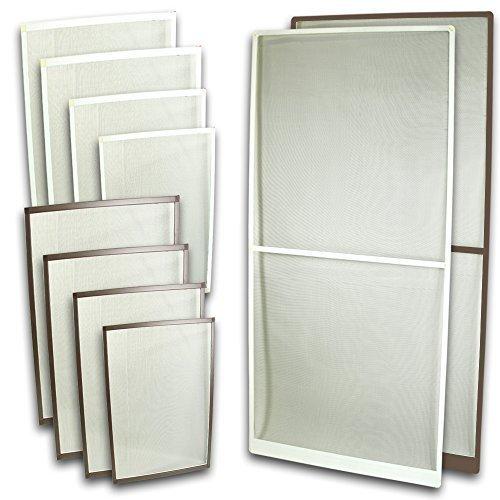Fliegennetz Fenster Aluminium Rahmen Weiss Größe 80cm*100cm Fliegengitter Insektenschutz Gitter Fiberglas