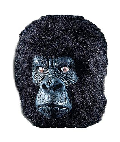 Générique - MA1024 - Masque Gorille Complet avec Poils Latex - Taille Unique