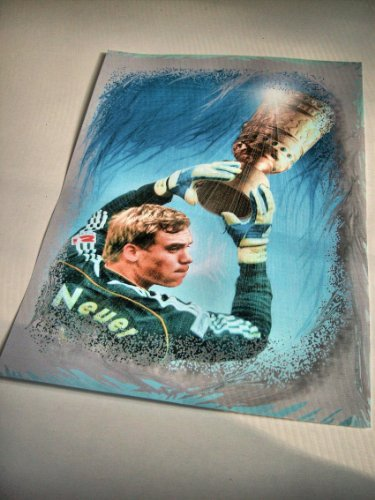 MANUEL NEUER MIT DFB-POKAL Top- Kunstdruck - direkt vom Künstler 30cm x 42cm