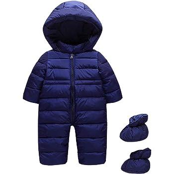 Minizone Bambino Tute da Neve Pagliaccetto con Cappuccio Inverno Tutine Outfits 9-24 Mesi