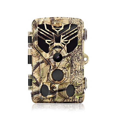 【Bluetooth Upgrade】 CHWARES Trail Camera, WiFi 24MP 1296P HD Hunting Game Camera with Night Vision Motion Activated IP65 Waterproof 940nm IR LEDs No Glow