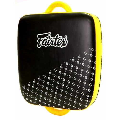 Fairtex Leg Kick pad Pseudonimo–il Thai valigia–nero/rosso