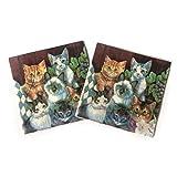 WallyE - Tovaglioli di carta per gatti, motivo animali...
