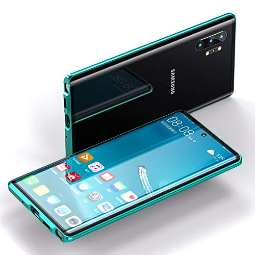 Case for Samsung Galaxy Note 10 Lite Magnetic Adsorption Cover 360 Degree Protection Aluminum Frame Tempered Glass Powerful Magnet Shockproof Metal Flip Cover