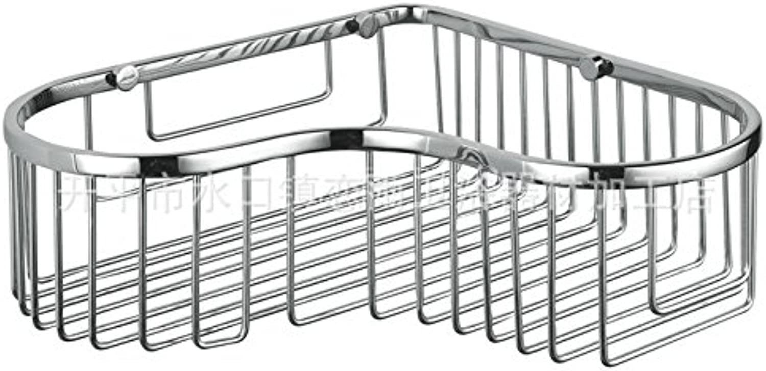 XAH@ 304 stainless steel single-layer heart-shaped storage basket rack-bathroom stainless steel basket factory direct specials , drawing section