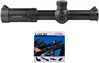 LUCID Optics 1-6x24 L7 Riflescope with P7 Blue Illuminated Reticle & Optics Cleaning Cloth