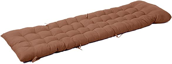 EONSHINE Fluffy Soft Patio Long Chair Cushion Pads, Polyester Filled Bench Rocking Chair Cushion for Home Office Indoor Outdoor Decoration (Coffee)