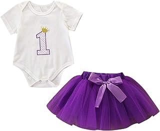 f2cb201f6b Kleider Babys Mädchen Festlich,Covermason Neugeborene Kinder Baby Mädchen  Strampler Geburtstag Party Bodysuit OverallRock Outfit-Set