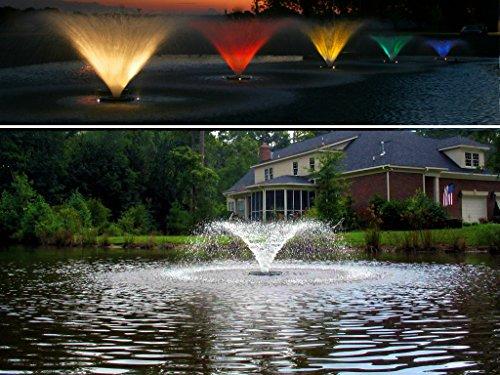 Kasco Decorative Aerating Lake & Pond Fountain WITH LIGHT KIT - 1/2 HP