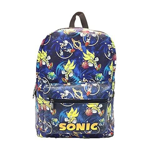 Sonic mochila Sonic impresión bolsas de escuela para adolescentes kindergartens Primary Schoolbag niños hombro Softback niños bolsas