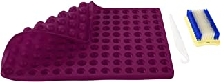 Non-Stick Silicone Baking Mats Sheet - 2cm Hemisphere Baking Mould for Dog Biscuits Treats/Puppy Cookies, Silicon Chocolate Candy Mold, Fat Reducing Cooking Mat, Reusable Bakeware, BPA Free (Purple)