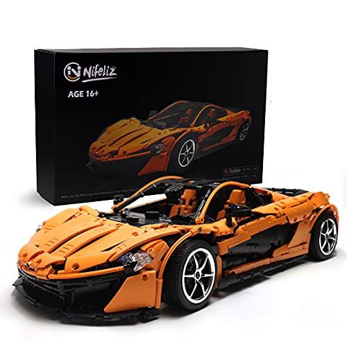 Nifeliz Sports Car P1 MOC Technic Bloques de construcción y juguete de ingeniería, para adultos, modelos coleccionables de coches para construir, escala 1:8 modelo de coche de carreras (3307 piezas)