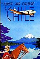 ERZAN知育玩具200ピースパズルチリ南アメリカ ビンテージ旅行広告芸術への最初の航空クルーズ家の装飾