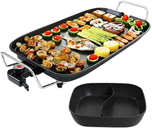 Hyzb Cuadrado eléctrico Pan Frying Pan Multi Olla Multifuncional sartén con Antiadherente...