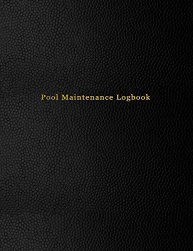 Pool Maintenance Logbook: Swimming pool client maintenance journal for business owners | Chemical tracking and repair log book | Black leather print paperback