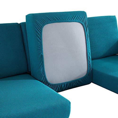 Amusingtao - Funda de cojín para sofá (1 a 4 asientos, antideslizante, poliéster, elastano, funda de repuesto para sofá