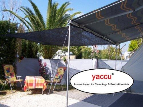 Yaccu 5x4m SCHATTENTUCH Rechteck schwarz