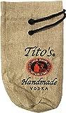 Tito Vodka logo ricamato bottiglia sacchetto di iuta