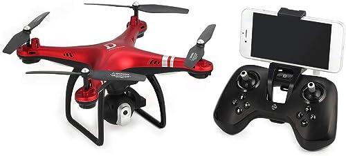 X8 RC Drone 2.4G FPV RC Quadricoptère Drone avec 720p Réglable Altitude de la caméra Tenir en Mode sans tête Mode 3D-Flip 18mins Long vol