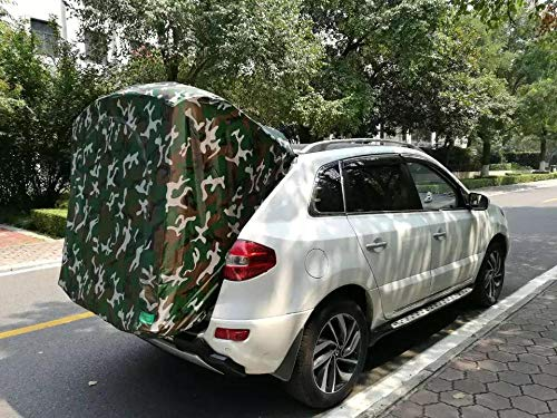 ASADVE Car Tent Camping Tent Camping Gear Suv Self-Driving Car Roof, Rear Tent, Extended Mini Car Jacket, Easy And Portable
