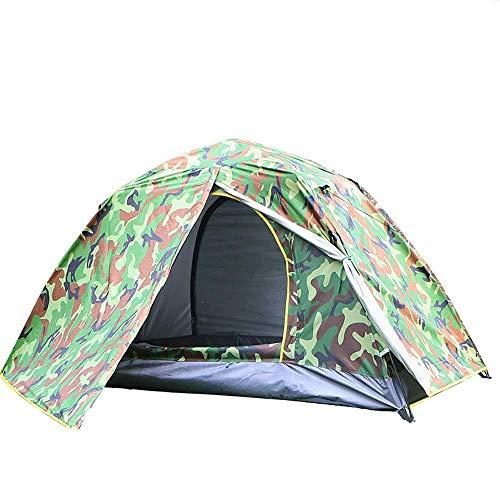 Single Tent Pop Up Festival Dome 1 Man Camping Tent - Veranda Gebied, Grond, Waterbestendig Backpacking Tent, Lichtgewicht, Gemakkelijk Pitch Festival Tent - Camouflage Groen