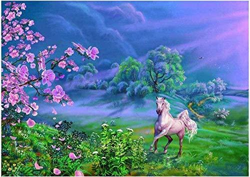 5D DIY diamant schilderij Paard Kruissteek diamant schilderij steentjes van speciale vormen, gebruikt voor thuis canvas wanddecoratie