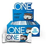 ONE Protein Bars, Cookies & Crème, Gluten Free Protein Bars with 20g Protein and Only 1g Sugar, Guilt-Free Snacking for High Protein Diets, 12 Count (Pack of 1)