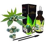 Aceite esencial de ricino F.C. para cuidado y fortalecimiento del cabello y uñas (1 paquete)