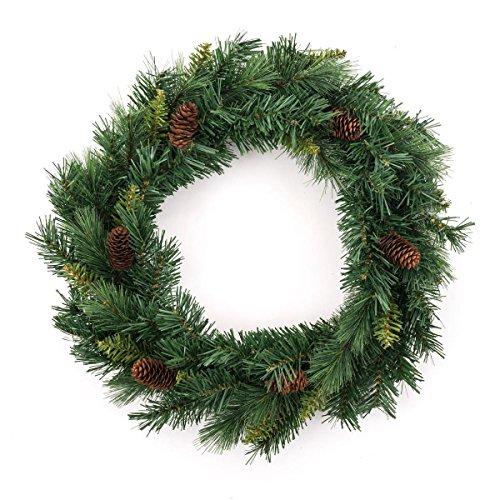 Corona de Navidad + piñas - Diámetro 40 cm
