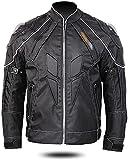 chaquetas de moto Chaqueta moto de la motocicleta del motorista 4 Estaciones chaquetas impermeables con equipos de protección y armadura desmontable cálido forro ( Color : Black , Size : XL-XLarge )
