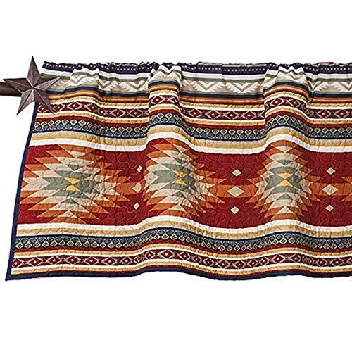 HiEnd Accents Del Sol Kitchen Window Valance w/Aztec Design, 18' x 56', Multicolored