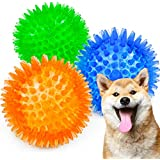 ABPET 犬おもちゃ 3個 犬用ボール 噛むおもちゃ 音の出るおもちゃ 知育玩具 天然ゴム 弾力性抜群 耐久性 ストレス解消 運動不足 訓練用 中小型犬に適用 マッサージボール