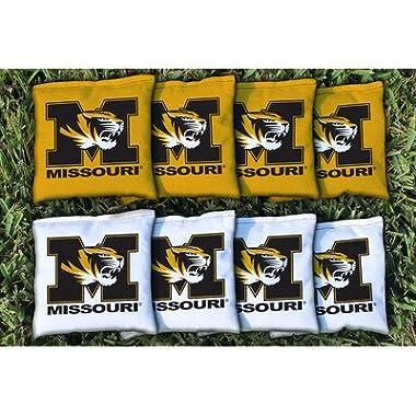 Victory Tailgate 8 Missouri Mizzou Tigers Regulation Cornhole Bags (corn filled)