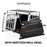 TechStylUK Pet Aluminium Car Dog Cage 6 Travel Puppy Crate Pet Carrier Transport