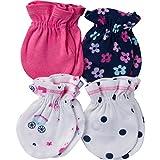 Gerber Baby Girls' 4-Pair Mittens, pink princess, 0-3 Months