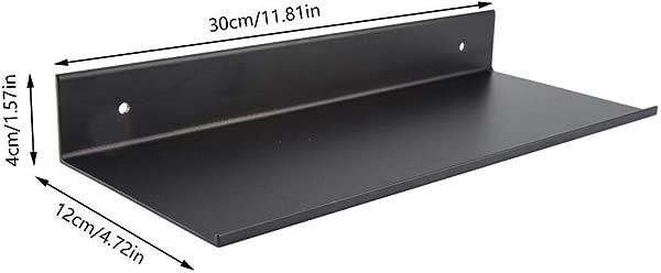 Eastbuy 浮动架子黑色浴室单层太空铝哑光架架子尺寸 30 厘米