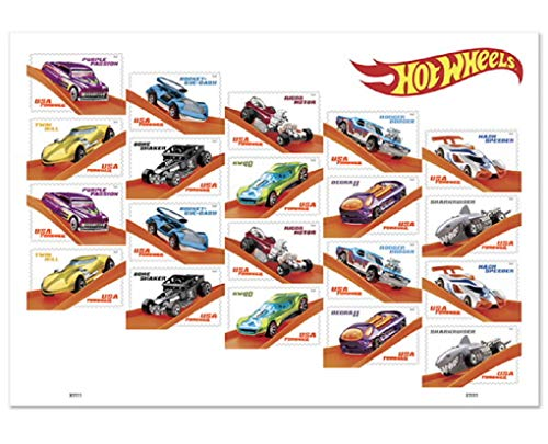 2018 Hot Wheels Forever Stamps by USPS (1 Sheet of 20)