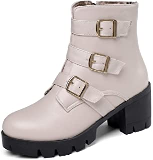 BalaMasa Womens ABS14015 Pu Boots