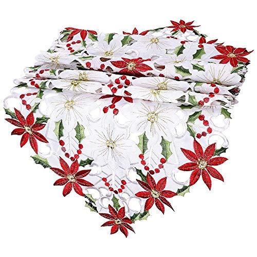 LCLrute Akkuschrauber MDN Weihnachtstischläufer rote Muster Weihnachtsmann Quasten dekorative Hauptpartei (A)
