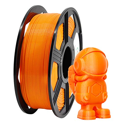 YOYI - Filamento de impresora 3D ABS, 1,75 mm, bobina de 1 kg (2,2 libras), 100% material virgen prima, precisión dimensional +/- 0,03 mm, naranja, 1