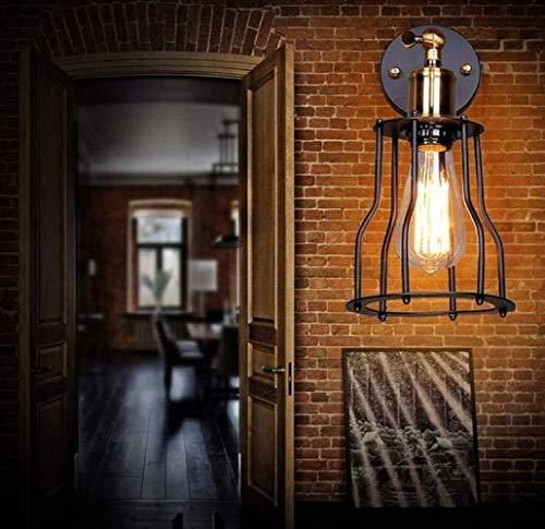 BuyBuyBuy Lampada da Parete Industriale Rustico Loft Lampada da Parete Vintage Industriale di Stile Parete-Luce della Lampada di Metallo Manubrio Regolabile, Rame, A