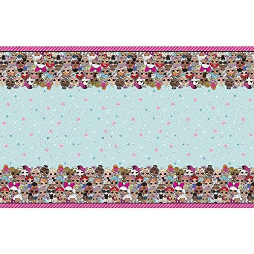 Unique Party - Mantel de Plástico - 2,13 m x 1,37 m - Diseño de LOL Surprise (79113)