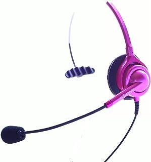 顧客ニーズで生まれた業務用電話機ヘッドセット(6色対応):メタリックピンク・マイク感度中感度タイプ(NTT、日立、ナカヨ、パナソニック、岩通、東芝、沖電気、AVAYA、Polycomに対応)国産品質3年保証