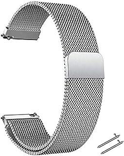 LUNIQUESHOP Bracelet de Montre Acier inoxydable pour Homme Femme,Bracelet de Montre Magnétique, Montre Round, Dégagement R...