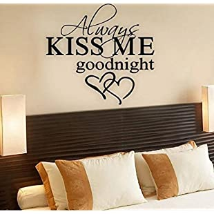 """erthome """"Always Kiss Me Goodnight"""" Home Decor Wall Sticker Decal Bedroom Vinyl Art Mural Removable"""