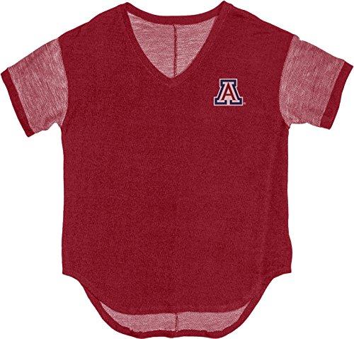 Blue 84 NCAA Premium Terry Camiseta de Cuello en V para Mujer, Mujer, JPTOT